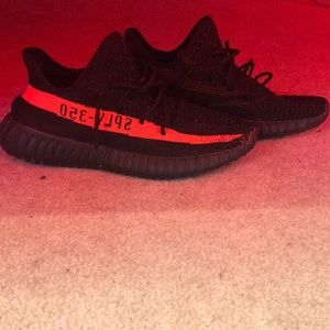 Yeezy 350 red and black v2